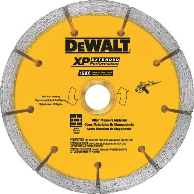 DeWalt Extended Performance 4 In. Tuck Point Segmented Rim Dry/Wet Cut Diamond Blade