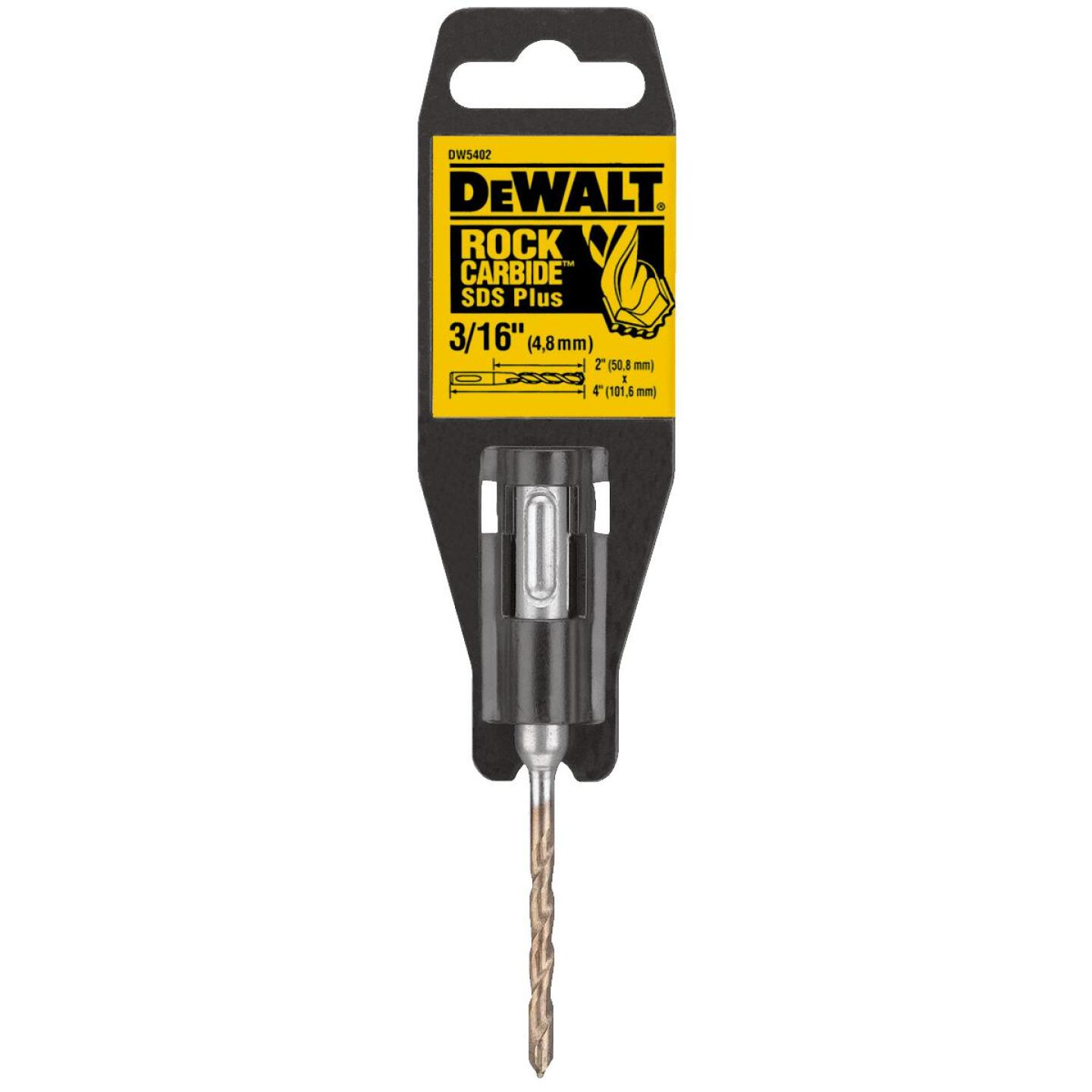 DeWalt SDS-Plus 3/16 In. x 4 In. 2-Cutter Rotary Hammer Drill Bit Image 1