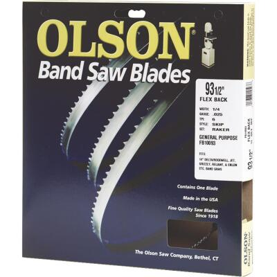 Olson 93-1/2 In. x 1/2 In. 3 TPI Hook Flex Back Band Saw Blade