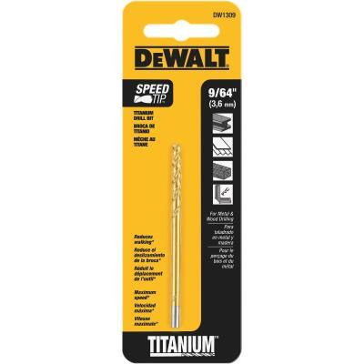 Irwin 9/64 In. x 2-7/8 In. Titanium Drill Bit