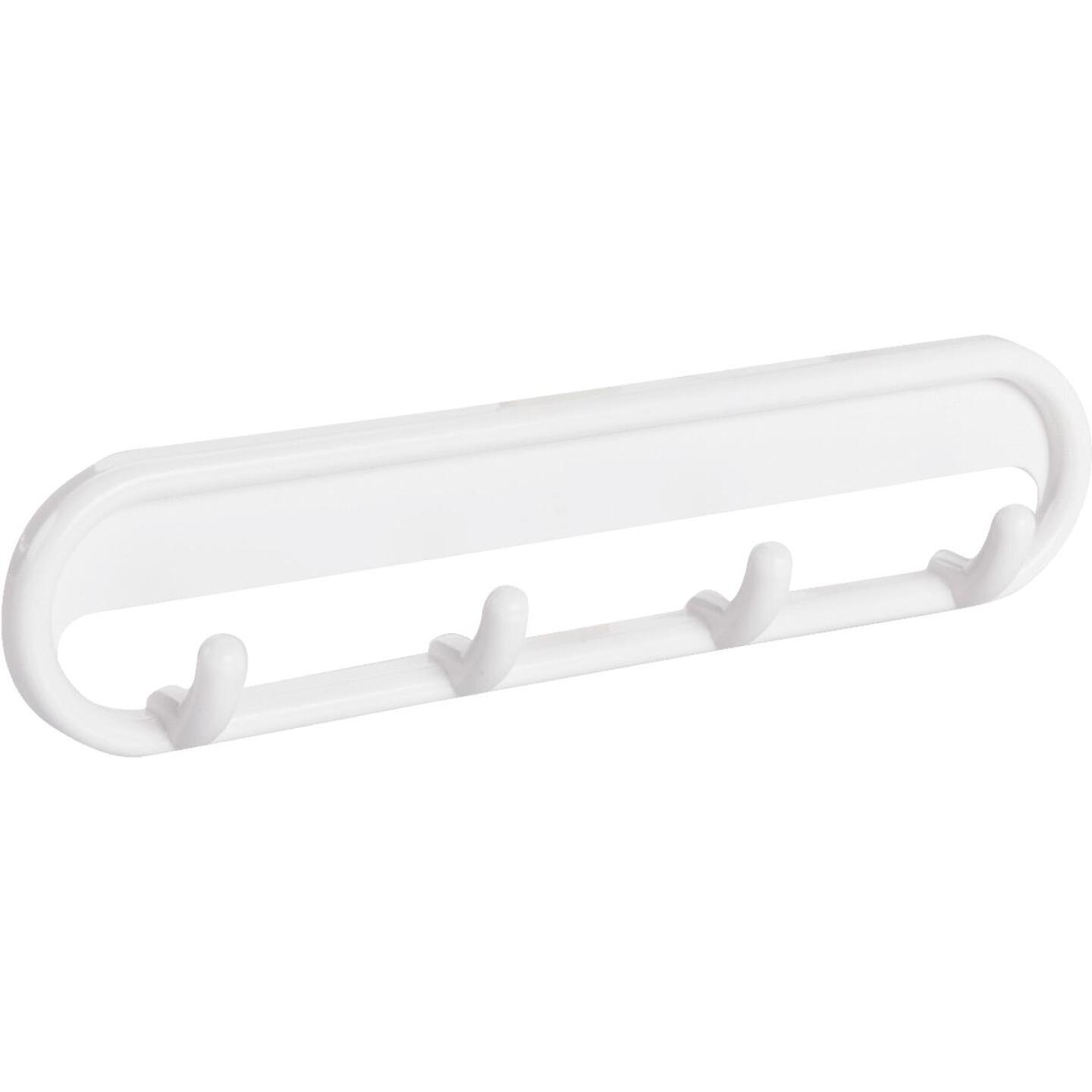 InterDesign White Multipurpose Hook Rail Image 1